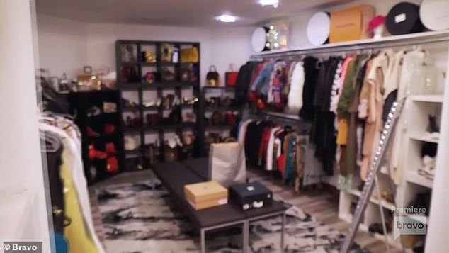 New place:Jen gave her a tour of Shah Chalet 2.0 including the exercise room that was converted into a closet