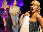 Paris Hilton and Gigi Gorgeous hit the catwalk at The Blonds' NYFW show in revealing sequin get ups