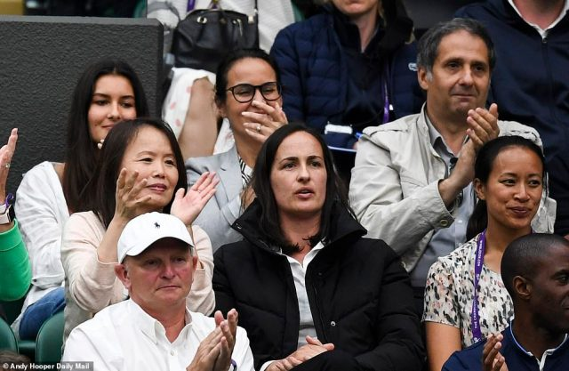 Raducanu's parents Ian (top right) and Renee Raducanu (bottom left) have been hugely influential in their daughter's remarkable journey (pictured at Wimbledon). Romanian Ian and Renee, who is Chinese, were living in Toronto, Canada, when only child Emma was born, and the family moved to the UK when she was two. She admits their communist backgrounds were hugely influential