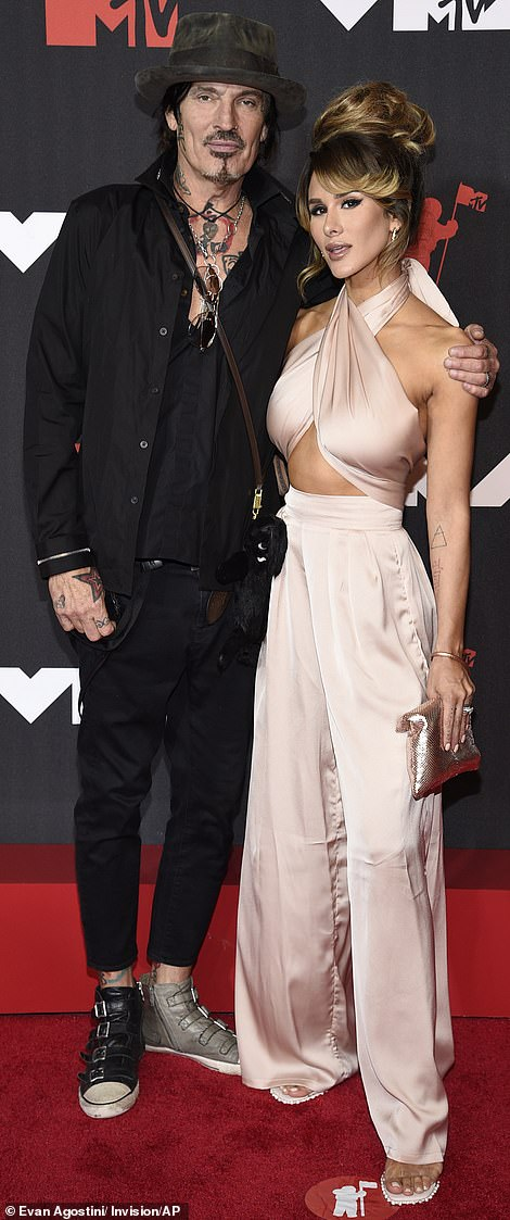 Date night: Tommy Lee took along wife Brittany Furlan