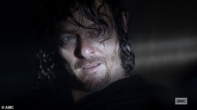 In captivity: Daryl listened as Leah explained her story since she last saw him
