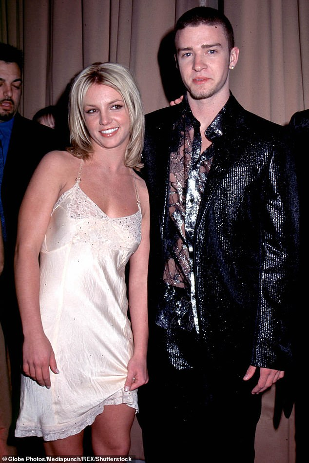 High profile: Britney has had a string of high-profile relationships, starting with Justin Timberlake (pictured with ex Justin Timberlake in 2001)