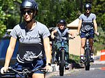 Jennifer Garner rides her bike with her son... while ex Ben Affleck packs on the PDA with JLo