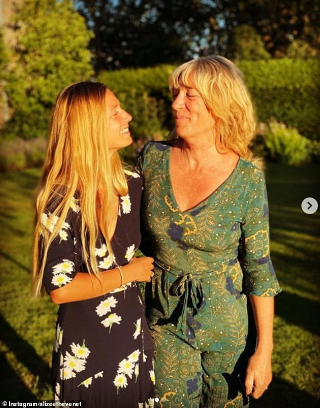 Alizee shares a close relationship with her mother (pictured) and her father is very fond of his daughter's new husband, previously describing Alizée as 'deliriously happy' with James