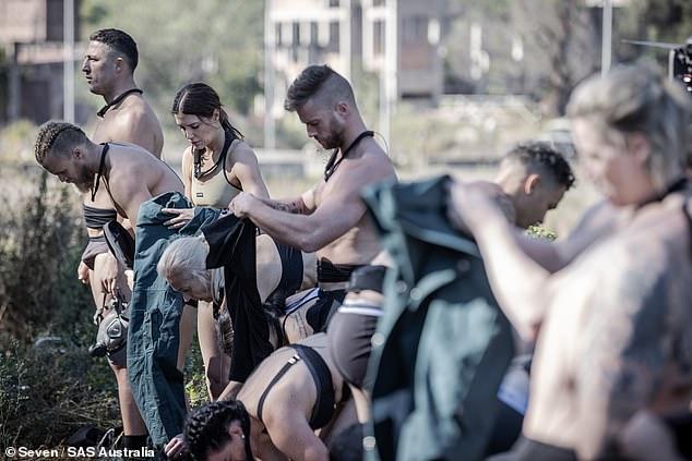 Eek!On Monday's premiere episode of SAS Australia, the contestants were told to strip down to their underwear