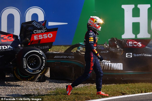 They survived butVerstappen was given a three-place grid penalty and two penalty points