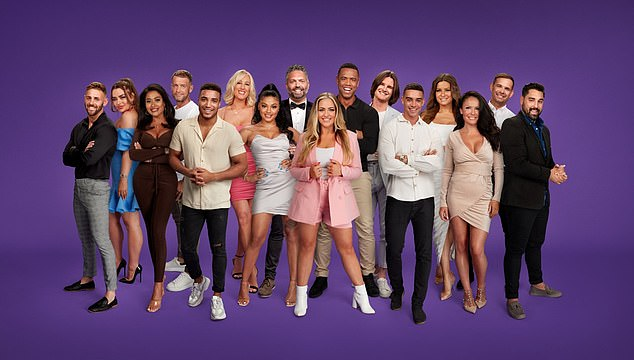Entertaining: Fans of Married At First Sight UK will recognise her from the latest series of the E4 shocker (pictured second from left)