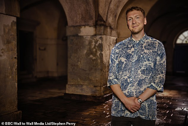 Light and dark: Comedian Joe Lycett, 33, manages to find humour everywhere, but he discovers a darker family history