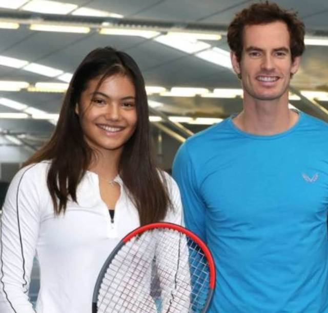 Emma Raducanu with Andy Murray, her mentor and friend. Her coach was until very recently, his father-in-law, Nigel Sears, Kim Murray's dad. Andy has congratulated her privately rather than on social media, which has raised eyebrows of tennis fans