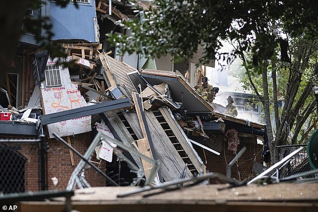 Police had been in the process of evacuating residents of Arrive Perimeter apartments due to gas-like odors when the blast happened, sending a portion of the complex tumbling down