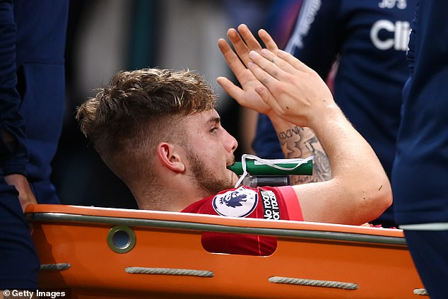 Elliott's ankle was put back in place on the pitch thanks to the rapid response of the Liverpool medical team and the use of a modern drug, called Penthrox, an effective analgesic