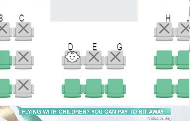 Japan airlines shows where children are sitting on planes on its booking system, in a move implemented previously, but discussed on today's episode of This Morning