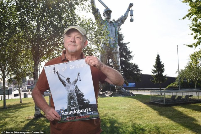 King of humdrum, Kevin Beresford (pictured) has travelled all over the UK photographing thousands of roundabouts and his best snaps have been whittled down for the new 2022 calendar