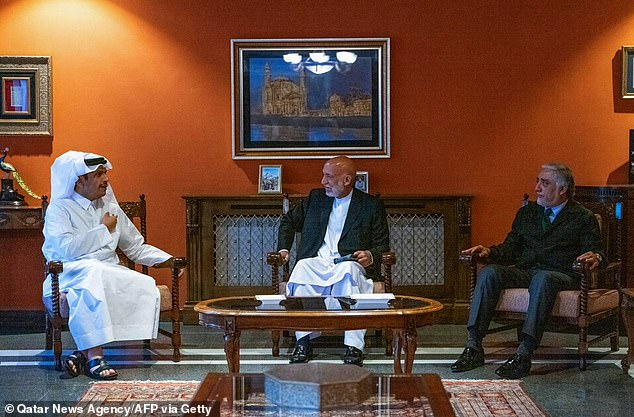 Speculation about Baradar's health was driven into overdrive at the weekend after he was absent from a high-level summit with Qatar (pictured), amid reports of political in-fighting