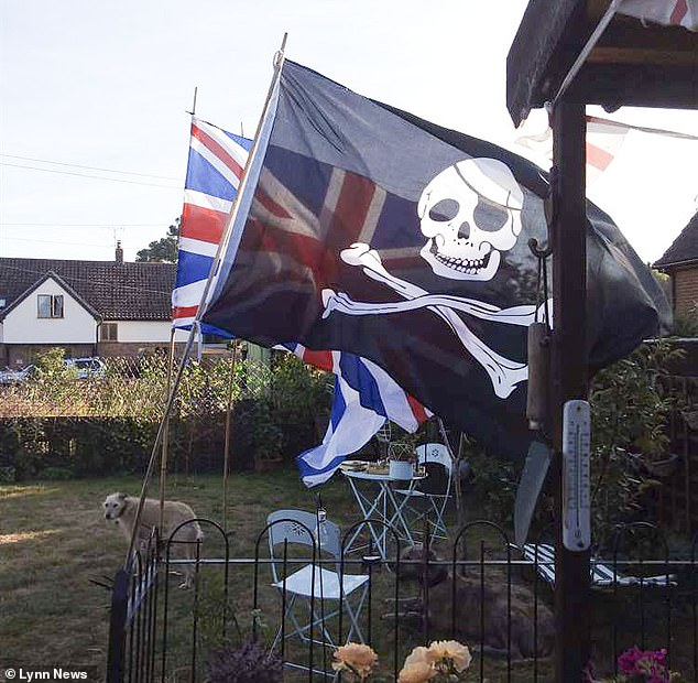 Killjoy council chiefs ordered a grandmother to take down a 5ft Jolly Roger pirate flag she put up in her garden for her grandchildren because it apparently breached advertising rules