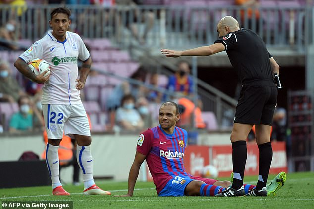 Braithwaite sustained the serious knee injury in Barcelona's 2-1 win over Getafe on August 29