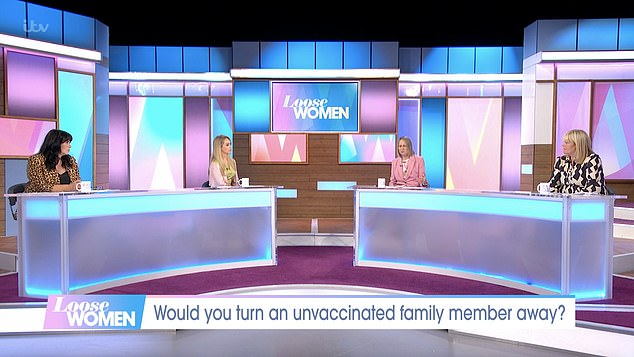 The Loose Women panel (Coleen Nolan, Katie Piper, Carol McGiffin adn Linda Robson) discussed whether or not they would invite unvaccinated family members to Christmas