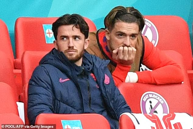 The Chelsea defender (L) was left frustrated after not playing a single minute at Euro 2020