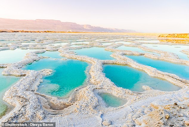 The Dead Sea is a salt lake located in the Judean desert of southern Israel, bordered by Jordan to the East