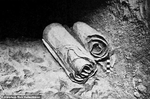 The scrolls are a collection of more than 25,000 ancient manuscript fragments, among which can be found the oldest known copies of books of the Hebrew Bible. They were first found in the Qumran Caves near the Dead Sea in 1946