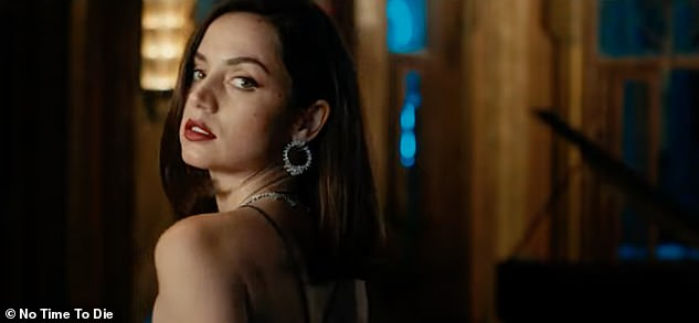 Glamorous: Ana then tells viewers about her character, and says: 'Paloma is a Cuban agent, she's intense, I had many action scenes. Thank god I had an amazing stunt team'