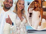 Taylor Ward, 23, and Riyad Mahrez, 30, mark engagement with glam bash