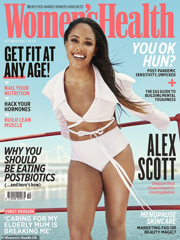 Cover Star: Grabbing the October cover of Women's Health, the former footballer also admitted that she gets asked why she is single 'all the time'.