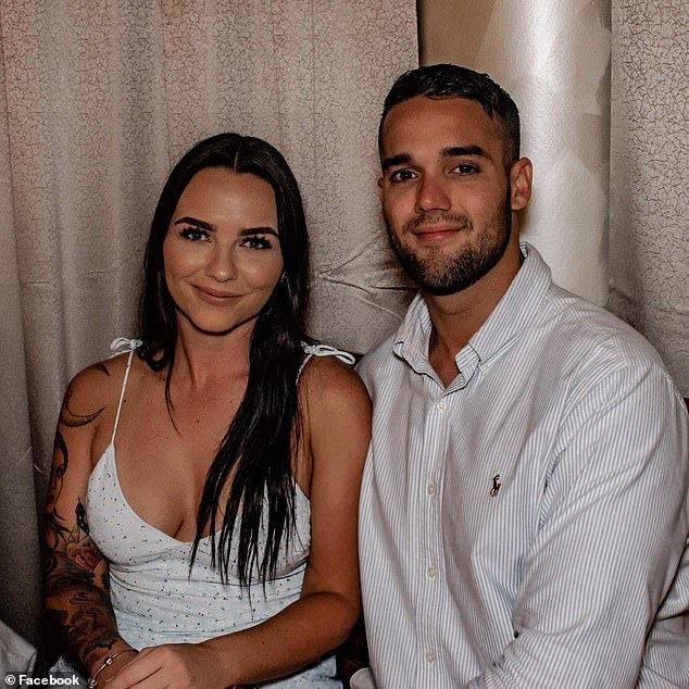 Kaitlin Jones (left) told Mr Odgaard that her fiancé Dylan Jay Gorham (right) was a miner on night shift who was asleep while she had gone to the beach
