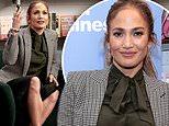 Jennifer Lopez strikes a conservative look as she works withGoldman Sachs