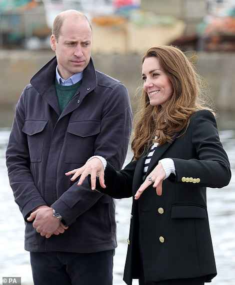 'Casually dressed' William and Kate (picturedmeeting fishermen and their families in Fife in May) made sure not to 'steal the show' at the wedding of her younger brother James Middleton, according to the French mayor who officiated it