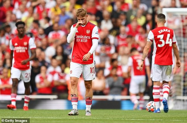 Arsenal were sitting bottom of the league before edging Norwich, and aren't in Europe