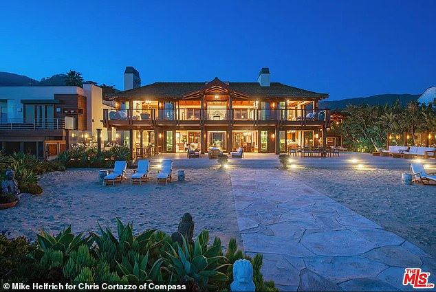 Off the market: It comes after Pierce recently took his $100million Malibu, California mansion off the market, according to the New York Post