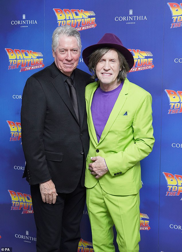 Looking good: American singer songwriter Glen Ballard and composer Alan Silvestri were also spotted at the event