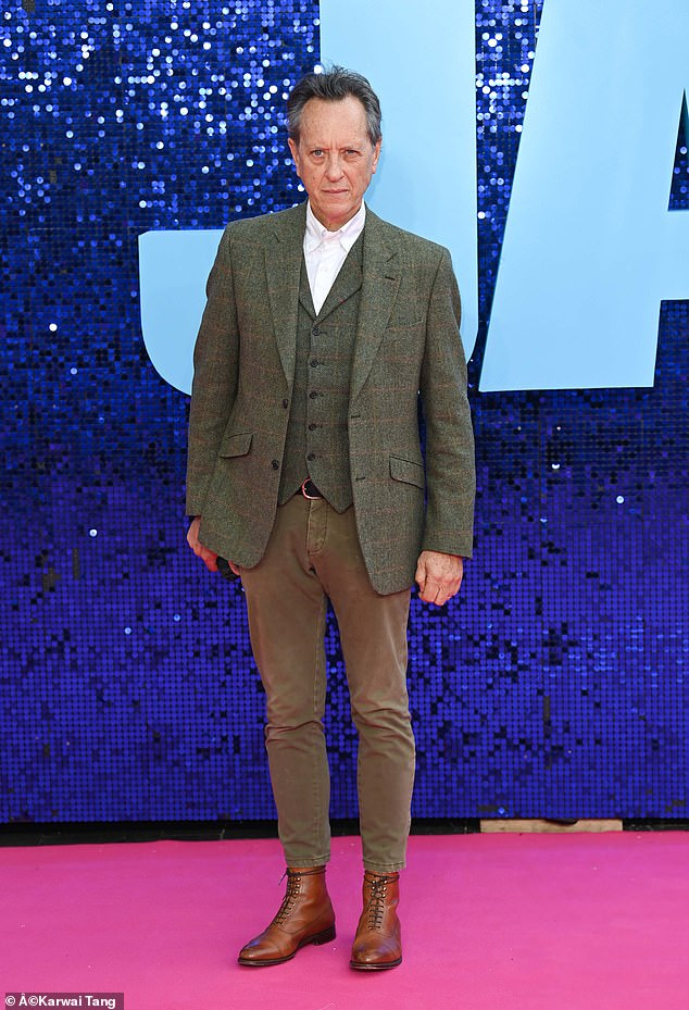 Spruce: The actor, 64, arrived at the Royal Festival Hall looked dapper in a suit, as he stopped for photos on the red carpet