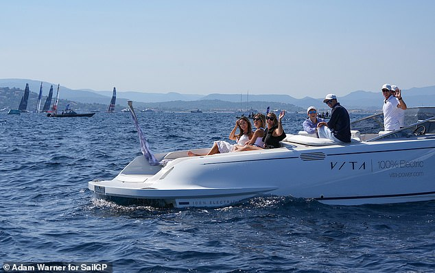 Idyllic: The ladies spent the day in the idyllic location, taking in all the sea views from the comfort of the yacht
