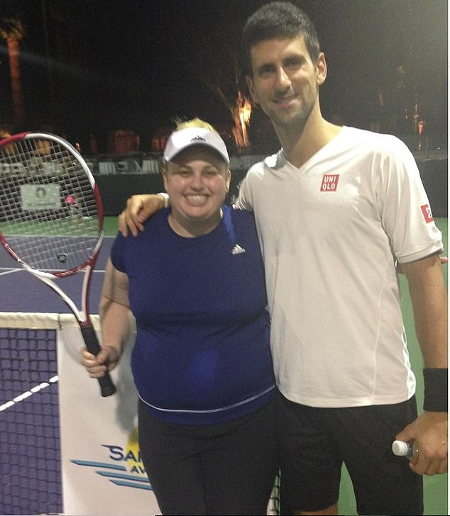 'It was such a sad time': Wilson recently shared this image of herself with tennis player Novak Djokovic which she said showed her at her 'unhealthiest'