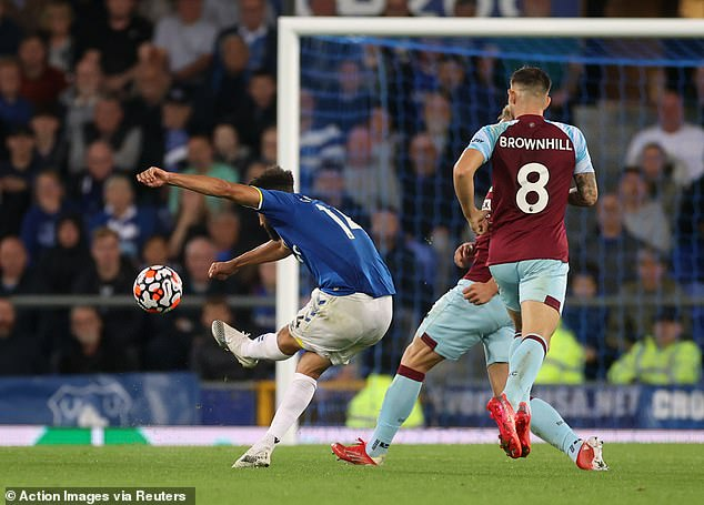 Andros Townsend unleashed a stunning 25-yard strike to give Everton the lead against Burnley