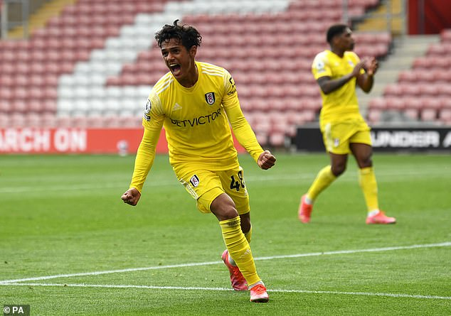 The teenager scored his first professional goal in the Premier League against Southampton