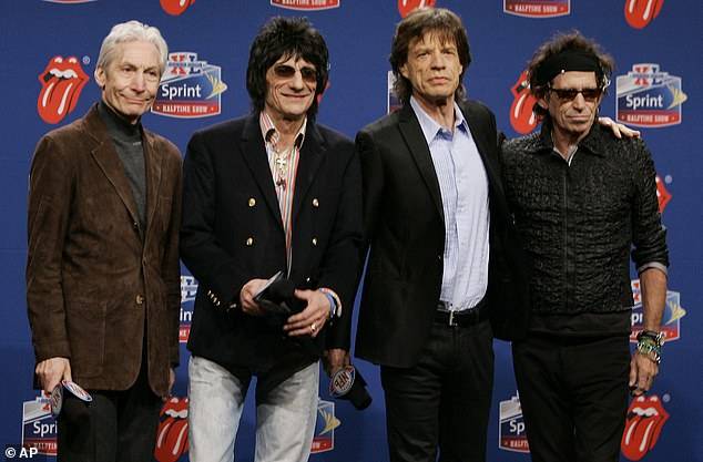 Statement: Charlie's publicist Bernard Doherty said:'Charlie was a cherished husband, father and grandfather and also as a member of The Rolling Stones one of the greatest drummers of his generation'