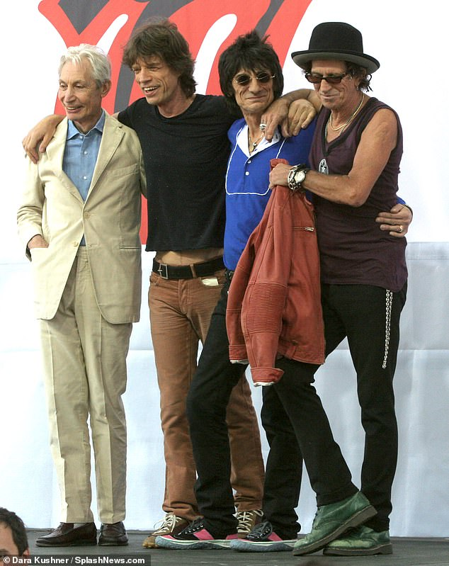 Travel: The group have remained in Boston amid pandemic rules where they are rehearsing for their rescheduled world tour which begins on September 26 in St Louis, Missouri (pictured in 2005)