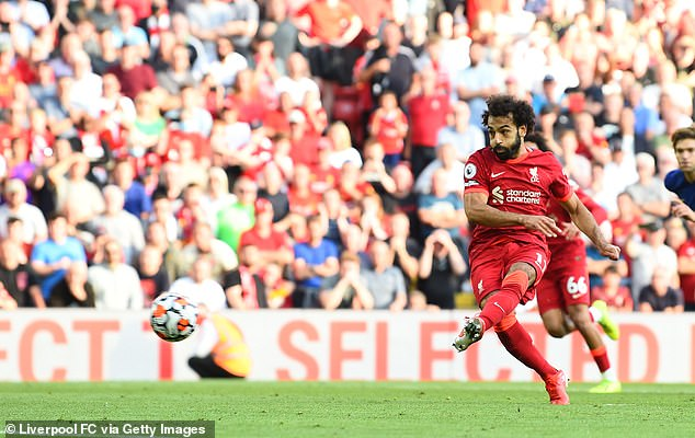 Salah has three goals in four games this season and is in talks over a new contract at Anfield