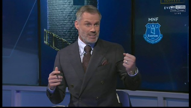 Carragher (above) claims Salah automatically makes it into an all-time Liverpool legends XI