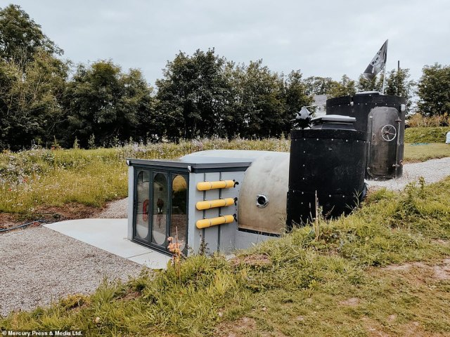 The last remaining UK sonar dome from a Royal Navy Destroyer has been saved and converted into a glamping pod. Toby Rhys Davies, 49, has spent £50,000 transforming the naval relic into a luxury staycation abode at his quirky campsite in Redberth, South Wales