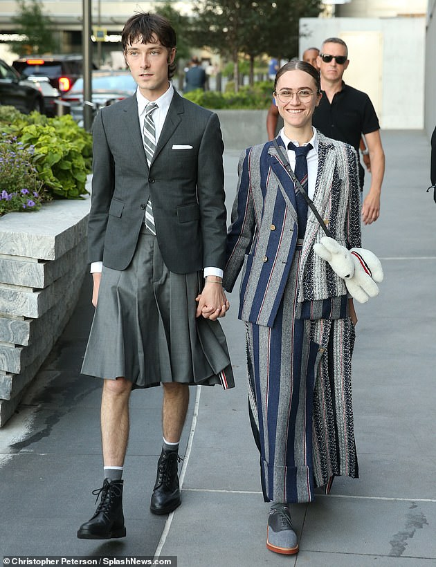 Busy bee: On Sunday, Ella attended Thom Browne's New York Fashion Week event with her beau Samuel Hine