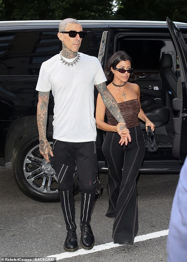 Kourt and Trav:While her sister Kim Kardashian arrived at the Met Gala in a bizarre outfit and half-sister Kendall Jenner and mother Kris Jenner was also in attendance, Kourtney Kardashian opted for an evening with boyfriend Travis Barker