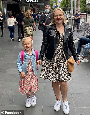 Olivia and her mother Yana (pictured)