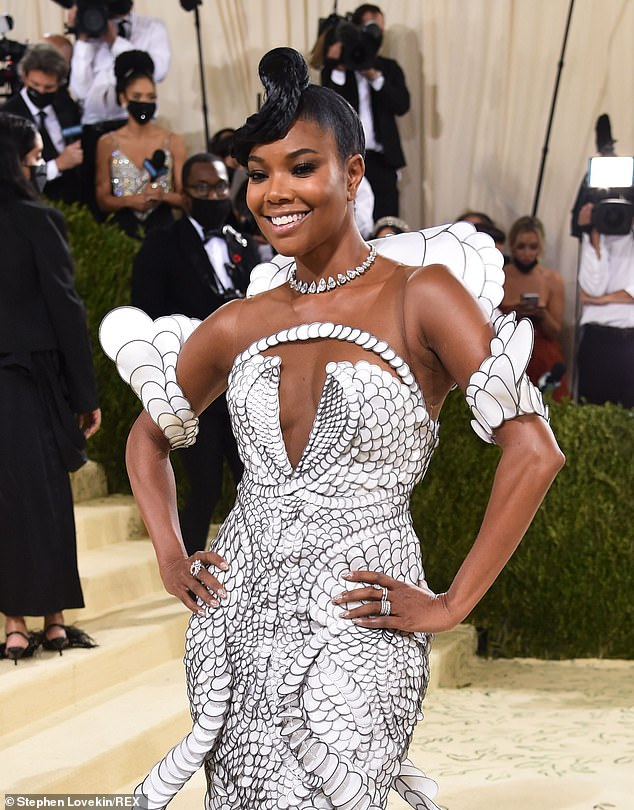 Favorite:Gabrielle Union has long been a Met Gala favorite for her unique looks, continuing the tradition this year with a stunning ensemble