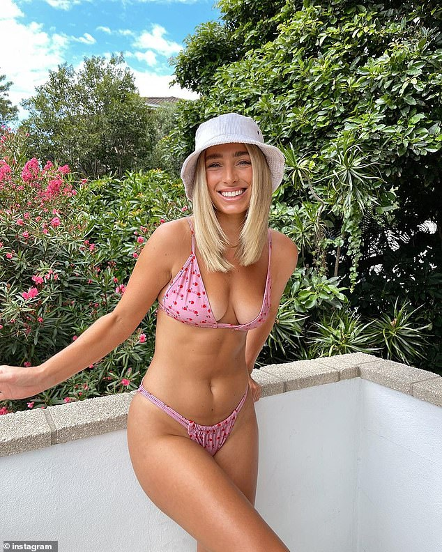 'It's really hurtful': Love Island star Cassidy McGill, 27, (pictured) has had a meltdown after a fan messaged her to say thank you for giving them confidence after sharing a bikini photo