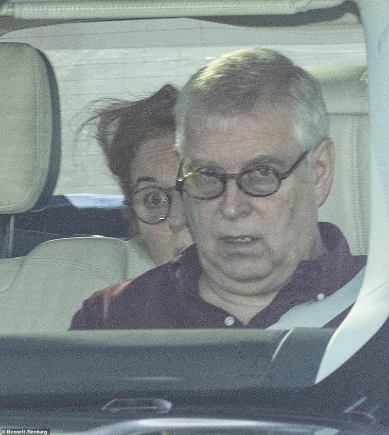 Prince Andrew with his ex-wife Sarah Ferguson leaving Windsor to drive to the Queen's Balmoral estate in Scotland last week