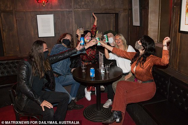 Victorians desperate to get back to the pub are waiting for Mr Andrews' roadmap. Pictured: The Cherry Bar in the CBD before lockdown